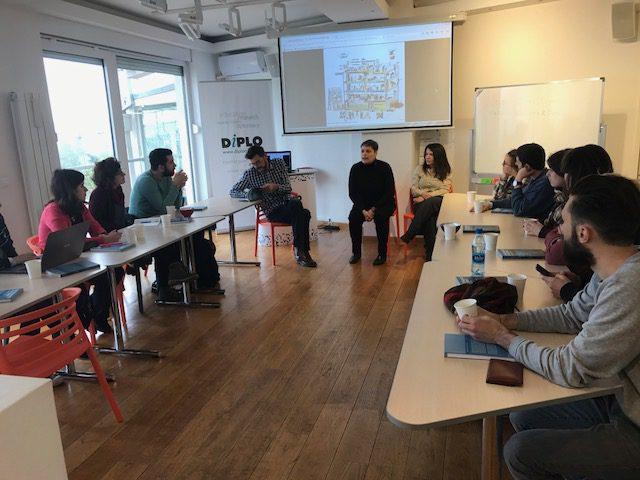 Geneva HEAD students visiting Diplo office in Belgrade