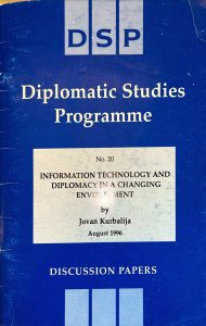 Cover page of the book Information Technology and Diplomacy in a Changing Environment